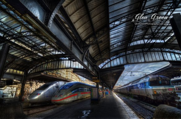 "Trains, Gare de l'Est, ""East station"", Paris France Photo by Glen Green"