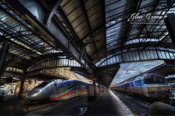 """Trains, Gare de l'Est, """"East station"""", Paris France Photo by Glen Green"""