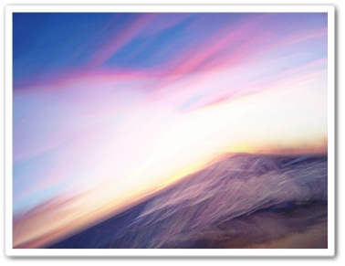 "Sunset Wave Two 20 x 15""  iPhoneography $325"