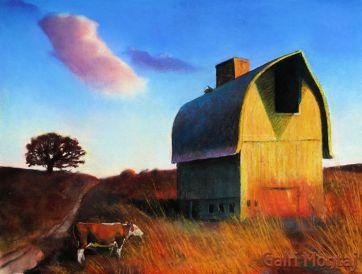 """Lonely Cloud  18 x 24"""", pastel"""