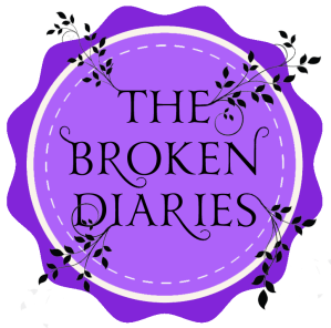 The Broken Diaries badge with leaves