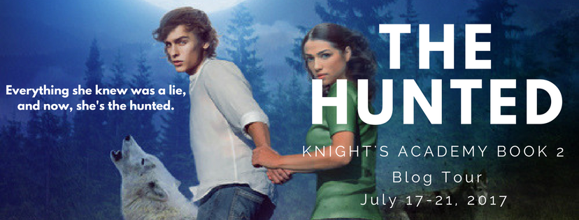 the hunted blog tour header
