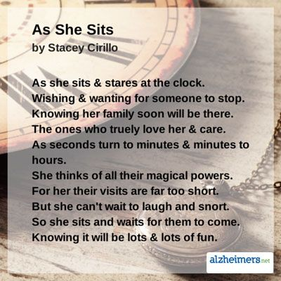 Alzheimer's ~ As She Sits