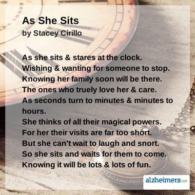 Alzheimer's ~ As She Sits
